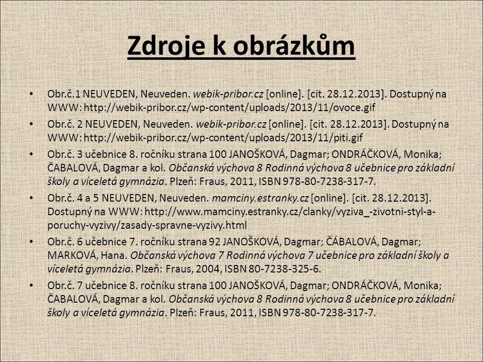 Zdroje k obrázkům Obr.č.1 NEUVEDEN, Neuveden. webik-pribor.cz [online].