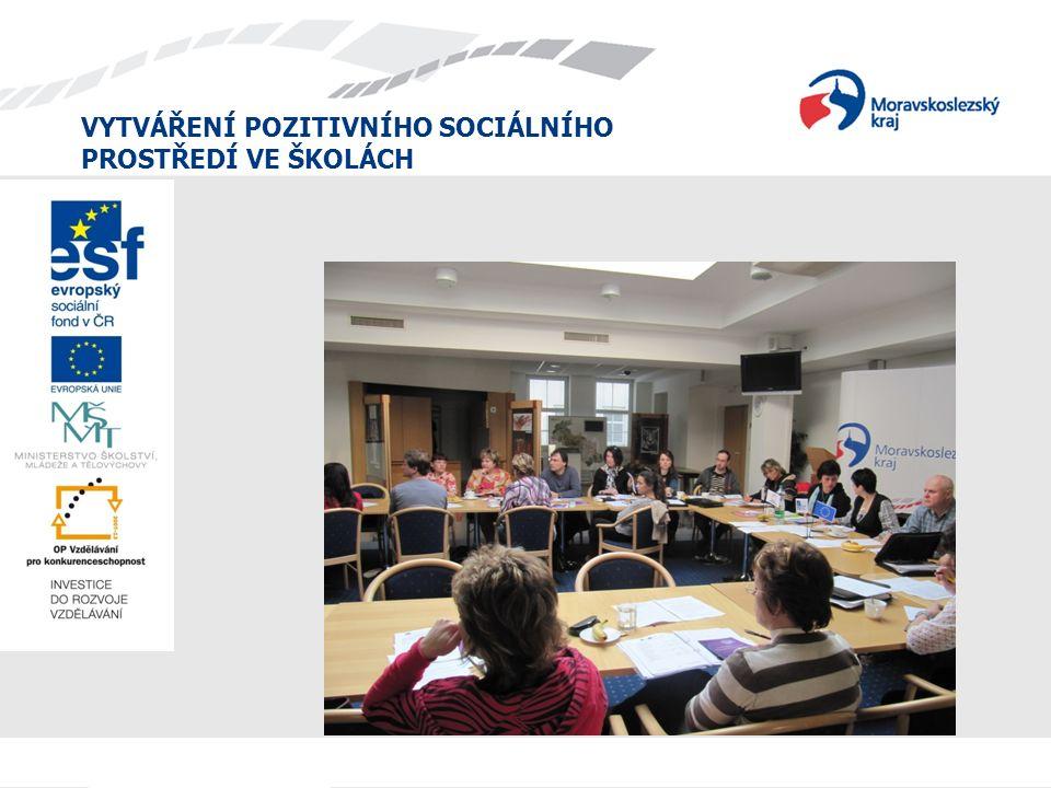 VYTVÁŘENÍ POZITIVNÍHO SOCIÁLNÍHO PROSTŘEDÍ VE ŠKOLÁCH 8) Organizační stránku projektu hodnotím jako: