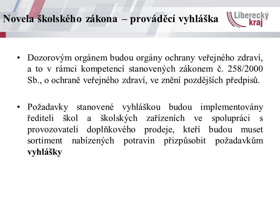 Dozorovým orgánem budou orgány ochrany veřejného zdraví, a to v rámci kompetencí stanovených zákonem č.