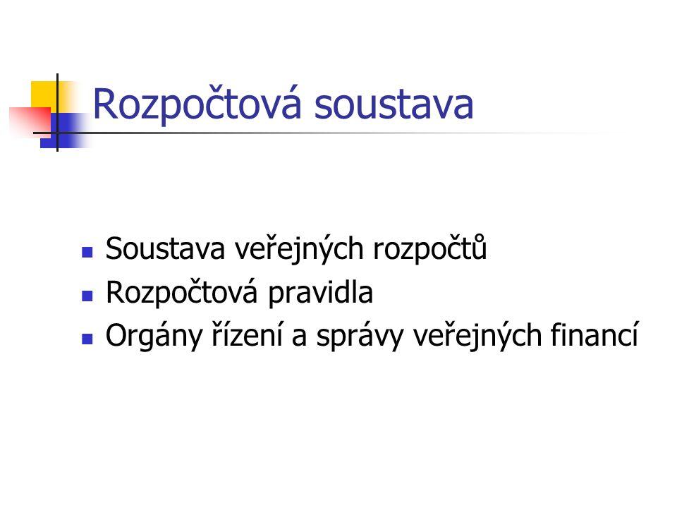 Veřejné finance - legislativa  Zákon č.243/2000 Sb., o rozpočtovém určení daní  Zákon č.