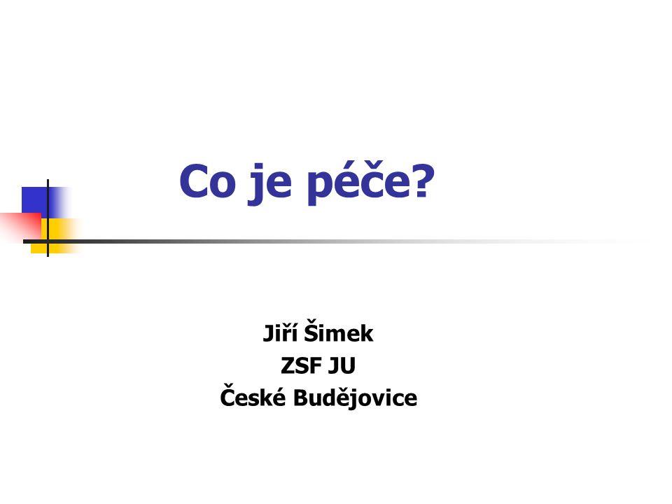 Co je péče? Jiří Šimek ZSF JU České Budějovice