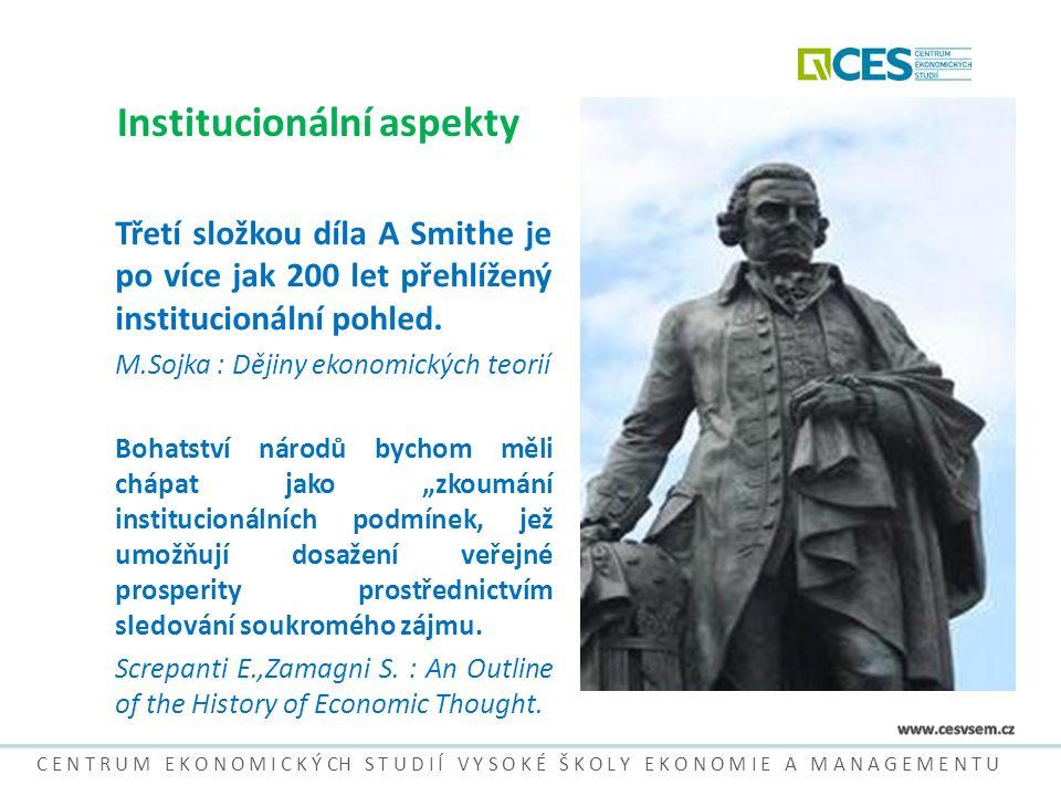 Problémy IES Historické a kulturní odlišnosti - nemusí být vždy pravda, že nejsvobodnější trh a nejsilnější ochrana soukromých vlastnických práv jsou nejlepší pro hospodářský rozvoj.