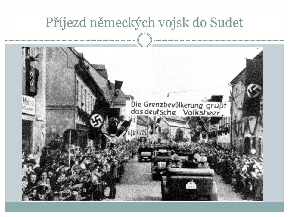 Příjezd německých vojsk do Sudet
