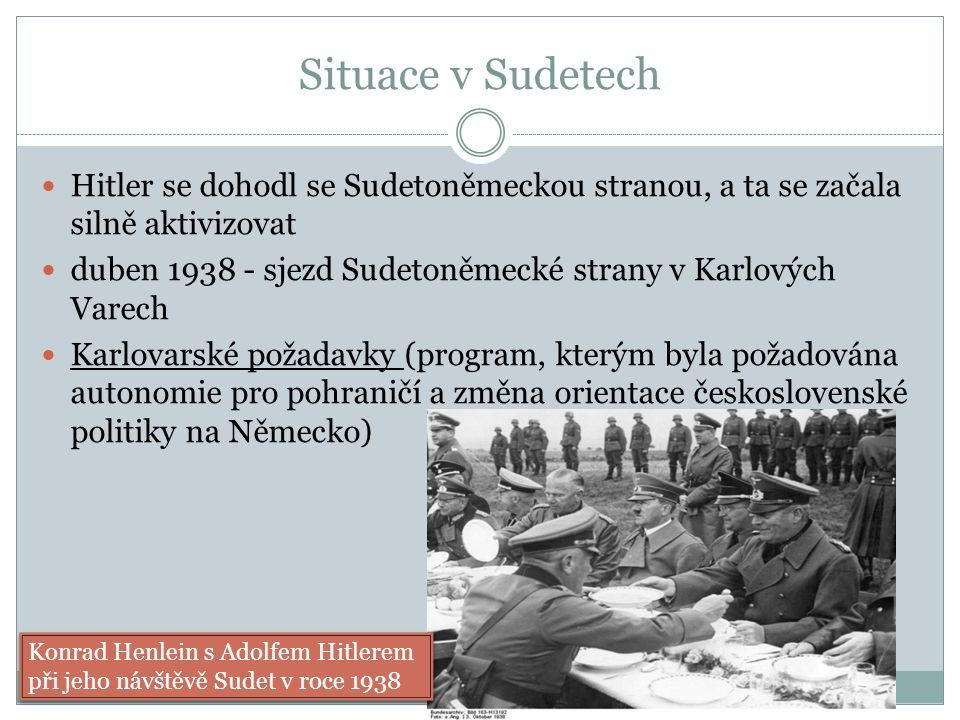 Další vývoj Prezident Hácha donucen Hitlerem podepsat souhlas s okupací Československa německou armádou 14.-15.