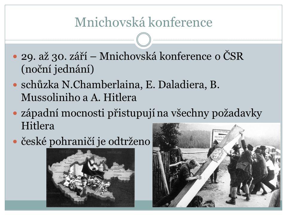 Mnichovská konference 29. až 30.