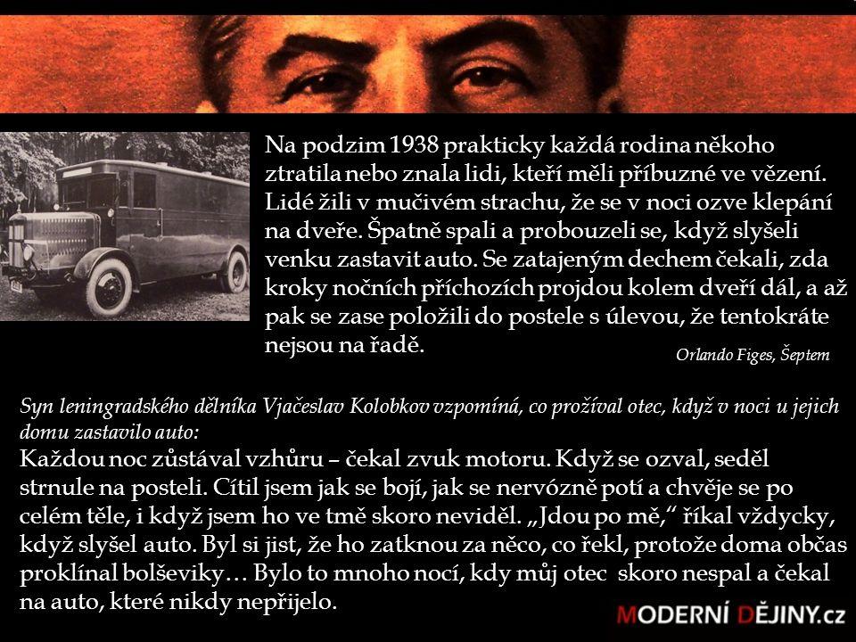 Konec velkého teroru k ukončení teroru došlo stejně nečekaně jako začal počet zastřelených překonal původní kvóty Stalin ruší všechny stanné soudy a masové operace odmítá zodpovědnost a obviňuje okolí.