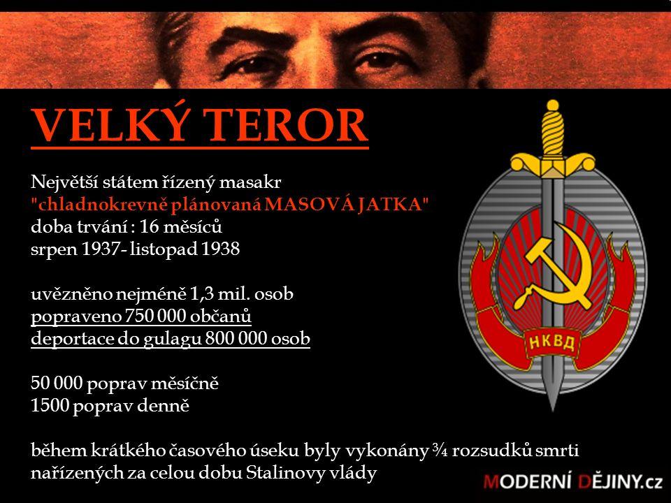 """z instrukce náčelníka NKVD pro západní Sibiř: """"Zatčené osoby můžete v celách předběžného zadržení držet třeba dva měsíce, když budete chtít."""