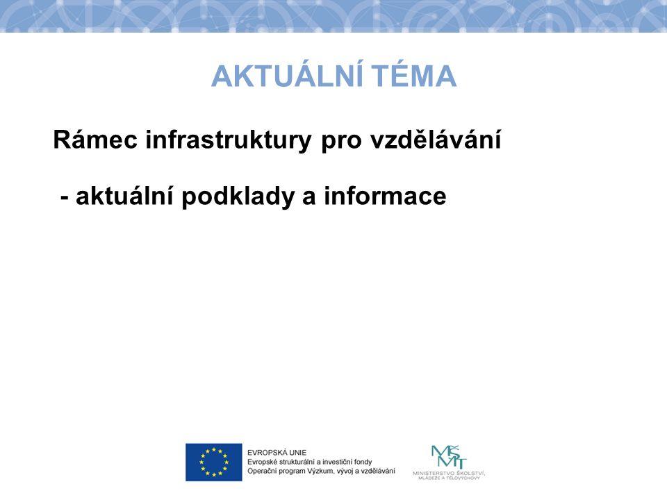 AKTUÁLNÍ TÉMA Rámec infrastruktury pro vzdělávání - aktuální podklady a informace