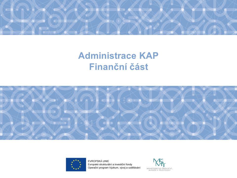 Administrace KAP Finanční část