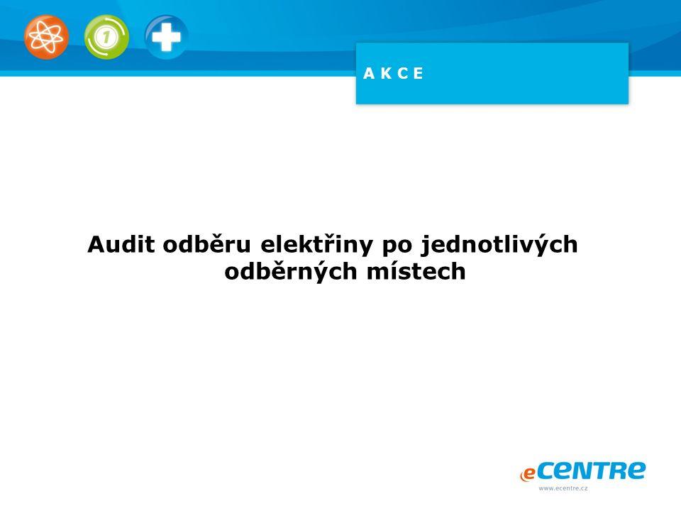 Audit odběru elektřiny po jednotlivých odběrných místech