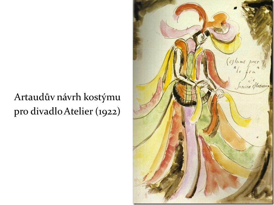 Artaudův návrh kostýmu pro divadlo Atelier (1922)