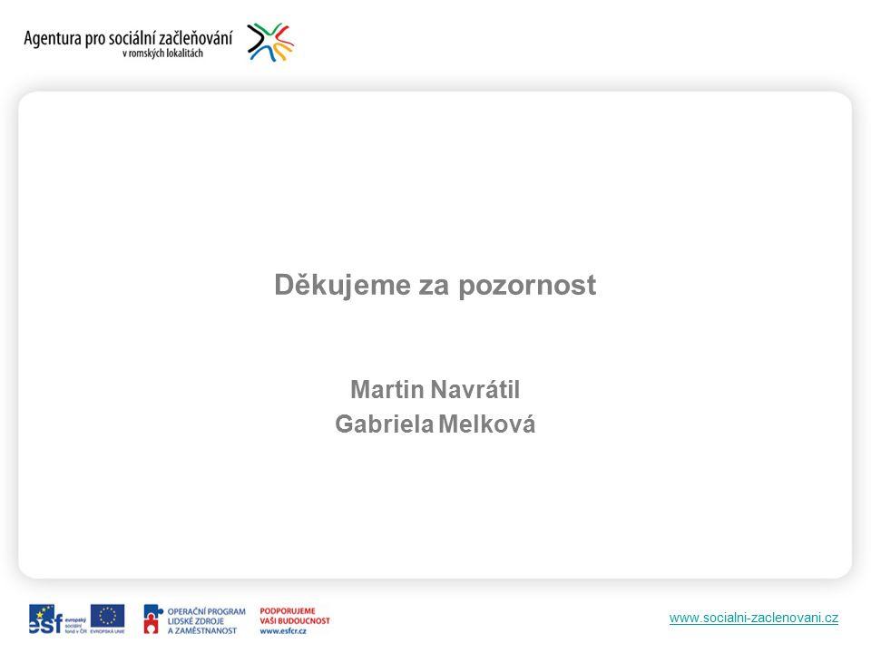 www.socialni-zaclenovani.cz Děkujeme za pozornost Martin Navrátil Gabriela Melková