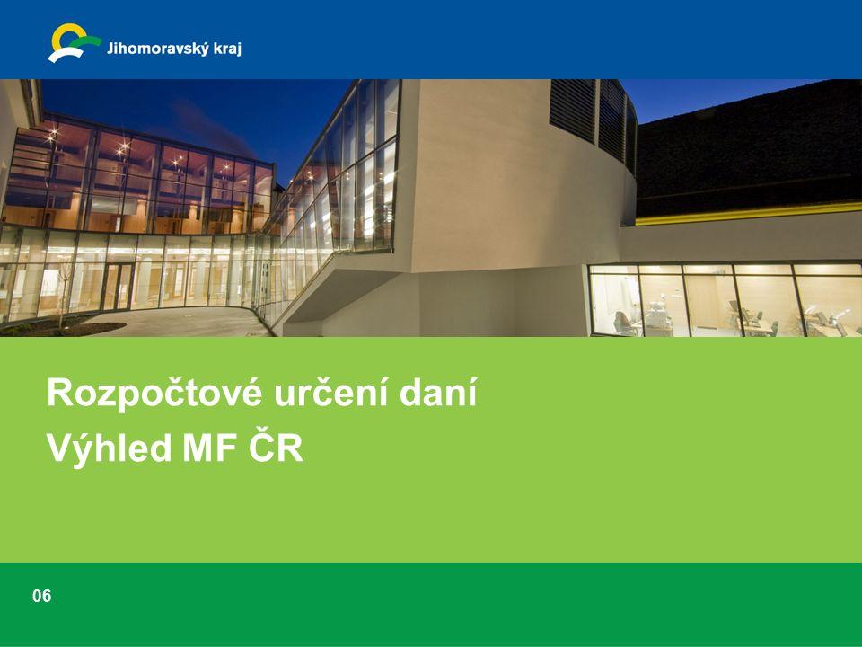 06 Rozpočtové určení daní Výhled MF ČR