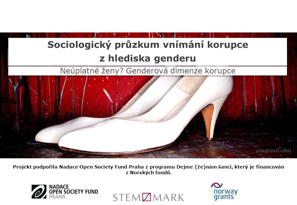 Sociologický průzkum vnímání korupce z hlediska genderu Sociologický průzkum vnímání korupce z hlediska genderu Neúplatné ženy.