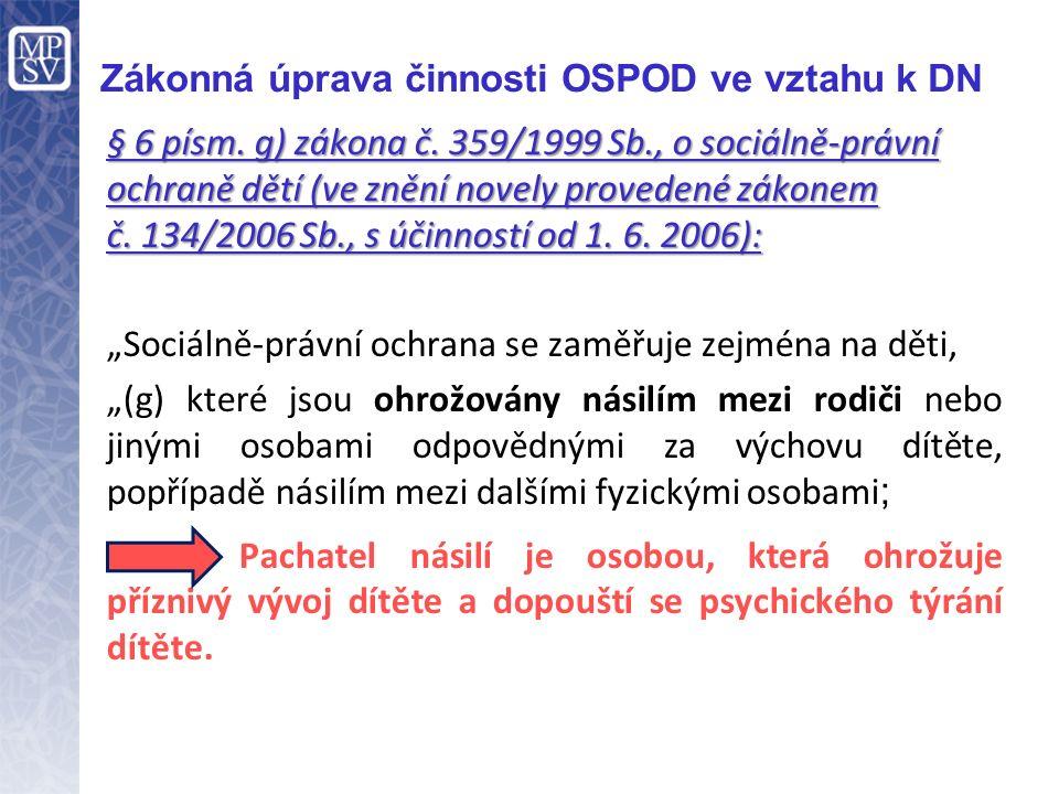 Oznamovací povinnost OSPOD § 51 odst.5 písm. b) zákona č.