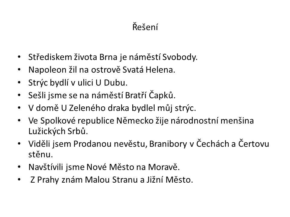 Vlastní názvy V české republice je mnoho obecních úřadů, ale já znám nejlépe obecní úřad ve studené.