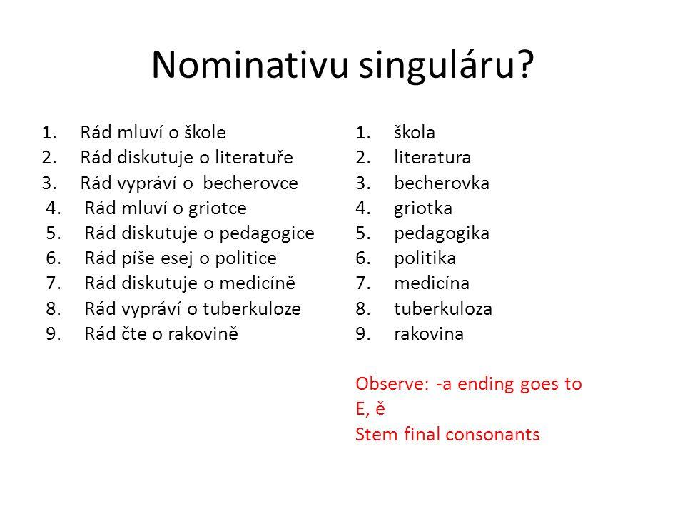 Nominativ singuláru.