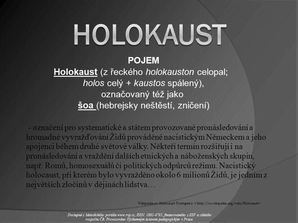 - označení pro systematické a státem provozované pronásledování a hromadné vyvražďování Židů prováděné nacistickým Německem a jeho spojenci během druhé světové války.