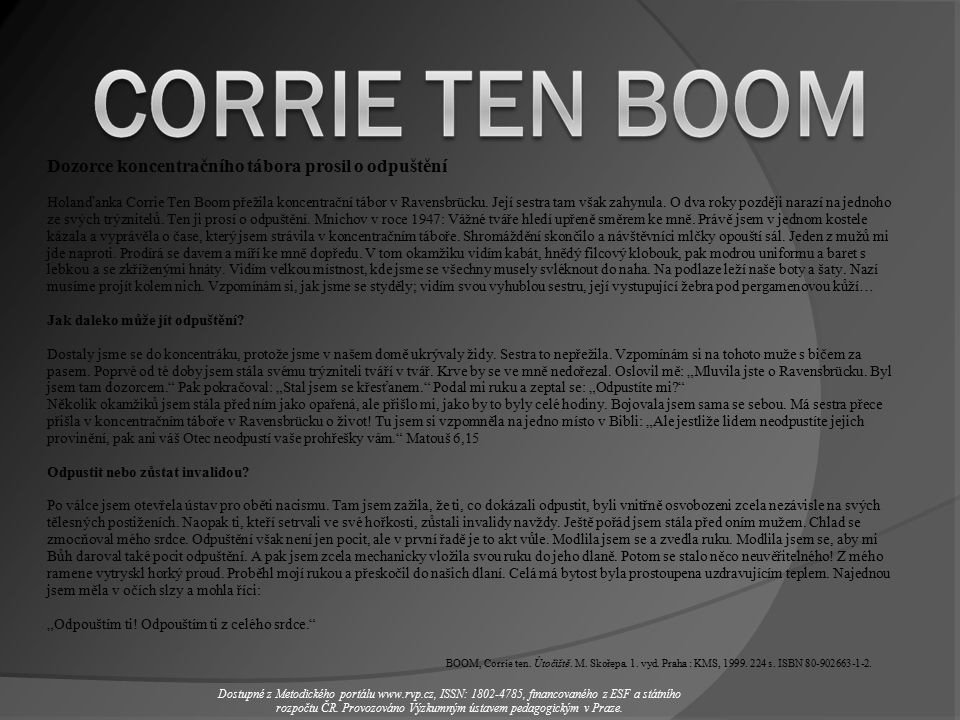BOOM, Corrie ten. Útočiště. M. Skořepa. 1. vyd.