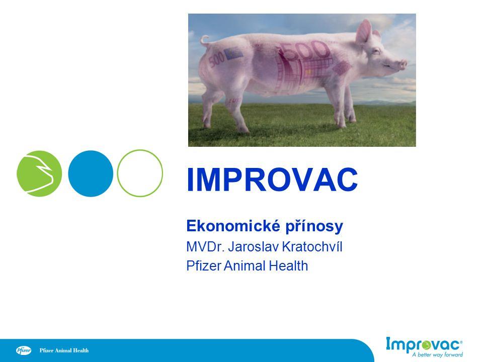 IMPROVAC Ekonomické přínosy MVDr. Jaroslav Kratochvíl Pfizer Animal Health