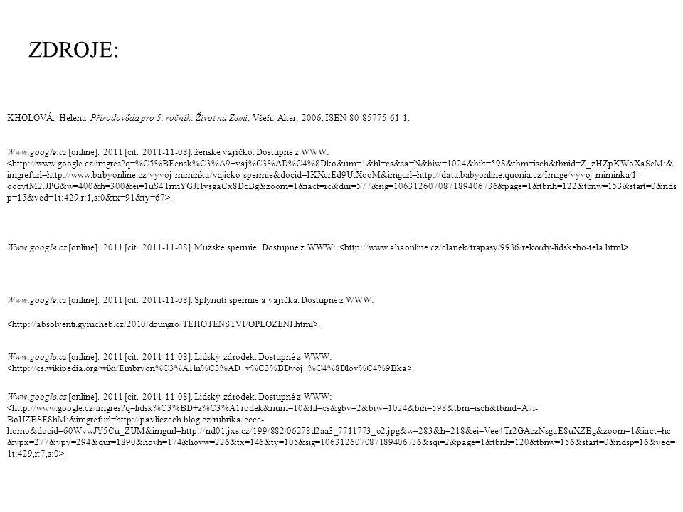 Www.google.cz [online].2011 [cit. 2011-11-08]. Mateřské mléko.