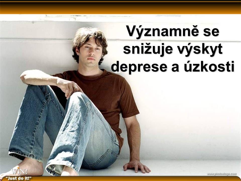 Významně se snižuje výskyt deprese a úzkosti