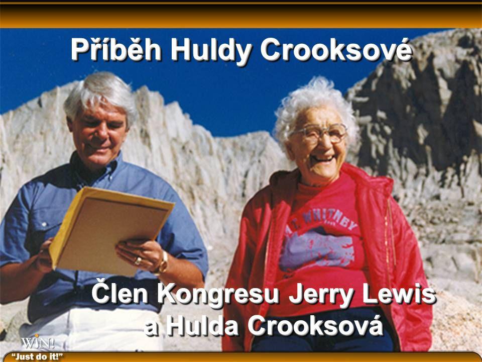 Příběh Huldy Crooksové Člen Kongresu Jerry Lewis a Hulda Crooksová