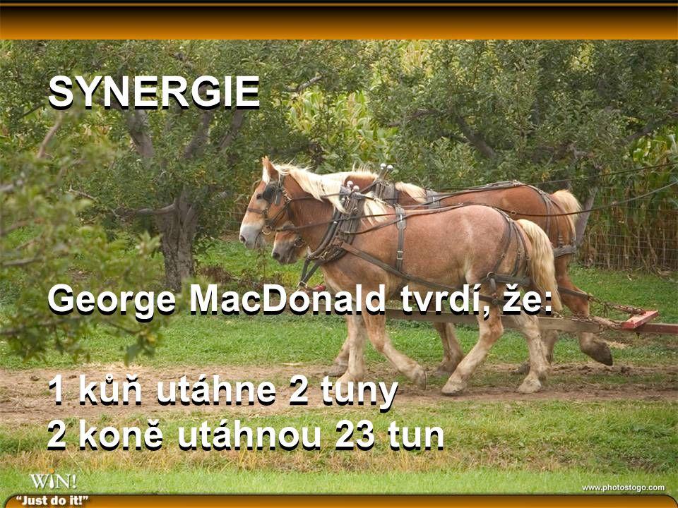 George MacDonald tvrdí, že: 1 kůň utáhne 2 tuny 2 koně utáhnou 23 tun George MacDonald tvrdí, že: 1 kůň utáhne 2 tuny 2 koně utáhnou 23 tun SYNERGIE