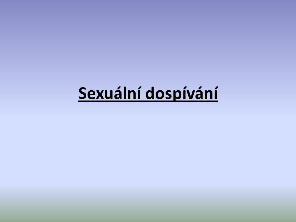 Sexuální dospívání