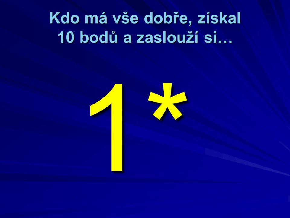 10. Kolik má čtverec vrcholů: A) dva B) tři C) čtyři
