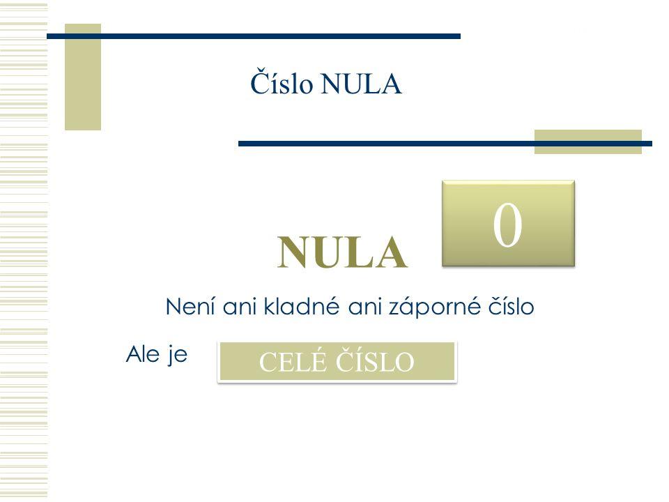 26.9.2016 0 0 NULA Není ani kladné ani záporné číslo Ale je CELÉ ČÍSLO Číslo NULA