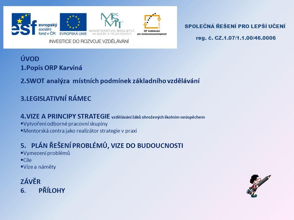 SPOLEČNÁ ŘEŠENÍ PRO LEPŠÍ UČENÍ reg.č. CZ.1.07/1.1.00/46.0006 2.