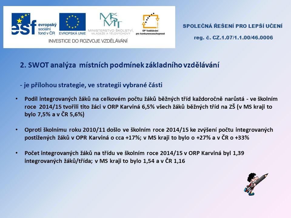 SPOLEČNÁ ŘEŠENÍ PRO LEPŠÍ UČENÍ reg. č. CZ.1.07/1.1.00/46.0006 2.