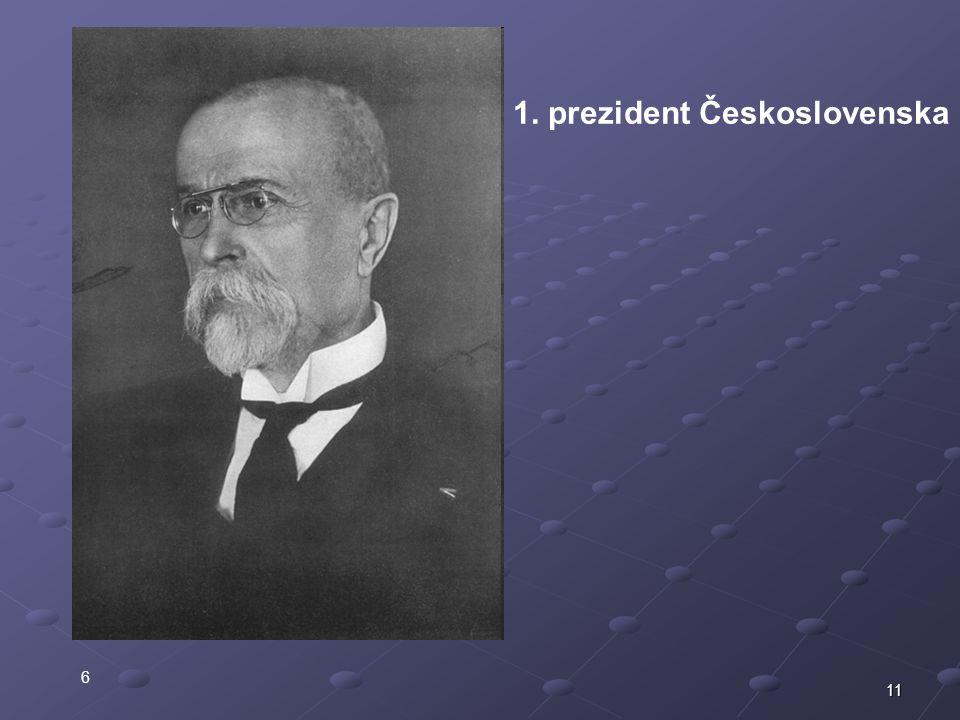 11 6 1. prezident Československa