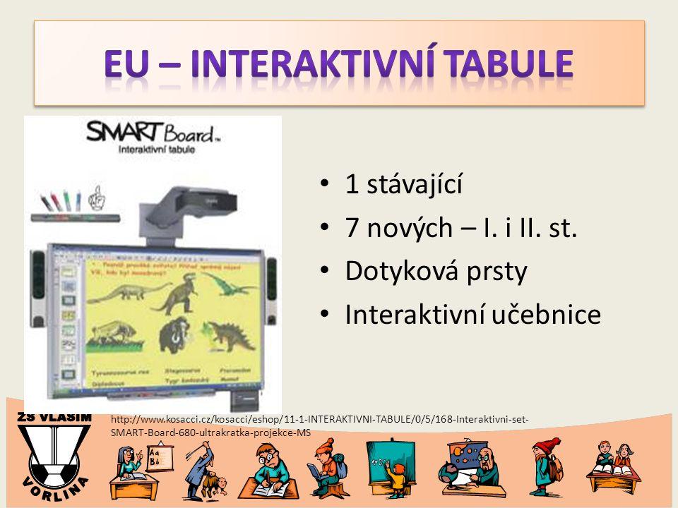http://www.kosacci.cz/kosacci/eshop/11-1-INTERAKTIVNI-TABULE/0/5/168-Interaktivni-set- SMART-Board-680-ultrakratka-projekce-MS 1 stávající 7 nových –