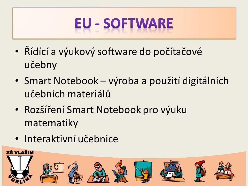 Řídící a výukový software do počítačové učebny Smart Notebook – výroba a použití digitálních učebních materiálů Rozšíření Smart Notebook pro výuku matematiky Interaktivní učebnice