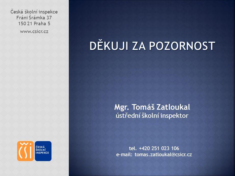 Česká školní inspekce Fráni Šrámka 37 150 21 Praha 5 www.csicr.cz Mgr.