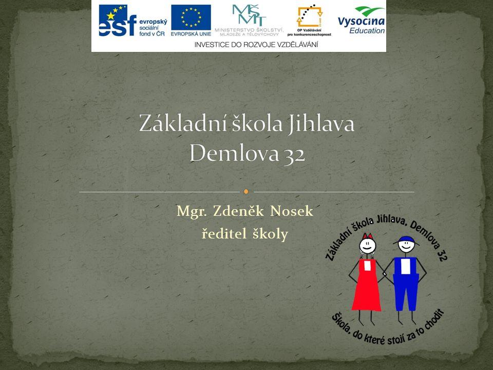 Mgr. Zdeněk Nosek ředitel školy Podpora zdravého životního stylu ve školách v Kraji Vysočina Číslo projektu: CZ.1.07/1.1.00/53.0014 Podpora zdravého ž