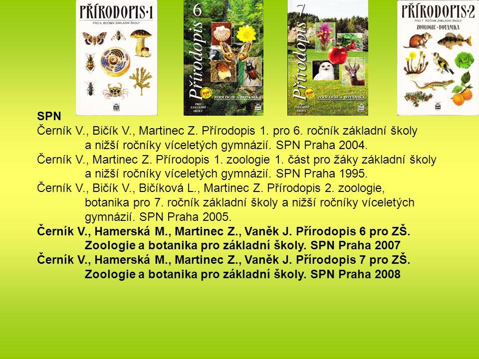 SPN Černík V., Bičík V., Martinec Z. Přírodopis 1.