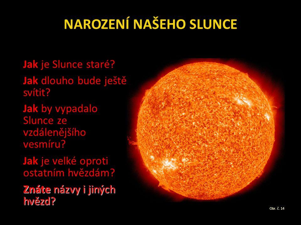 NAROZENÍ NAŠEHO SLUNCE Jak je Slunce staré. Jak dlouho bude ještě svítit.