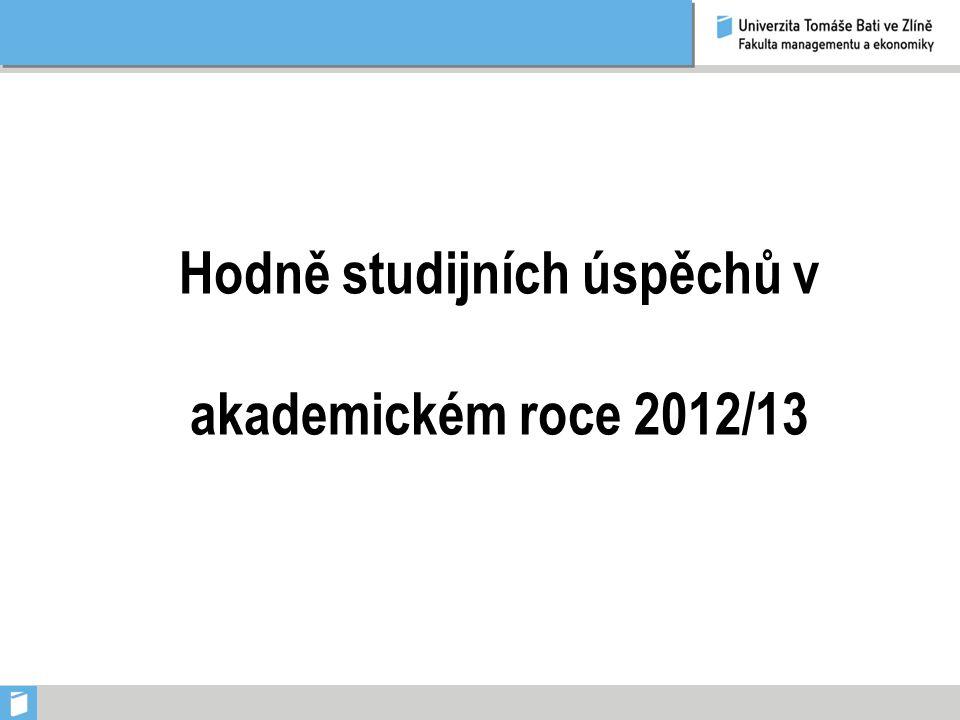 Hodně studijních úspěchů v akademickém roce 2012/13