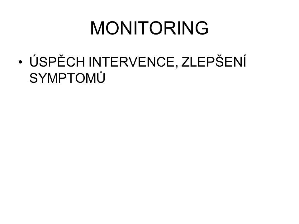 MONITORING ÚSPĚCH INTERVENCE, ZLEPŠENÍ SYMPTOMŮ
