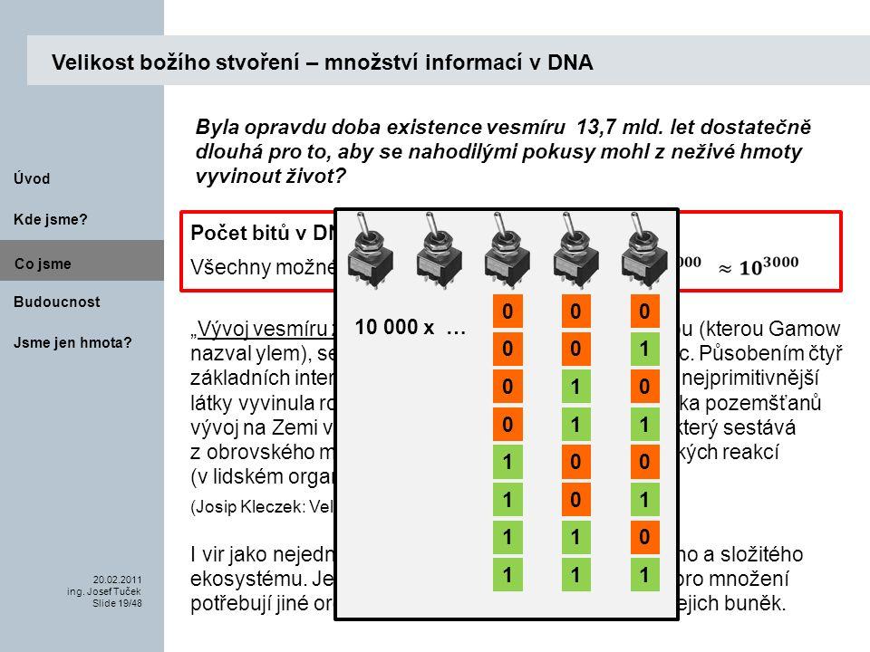 Budoucnost Co jsme. 20.02.2011 ing. Josef Tuček Slide 19/48 Kde jsme.