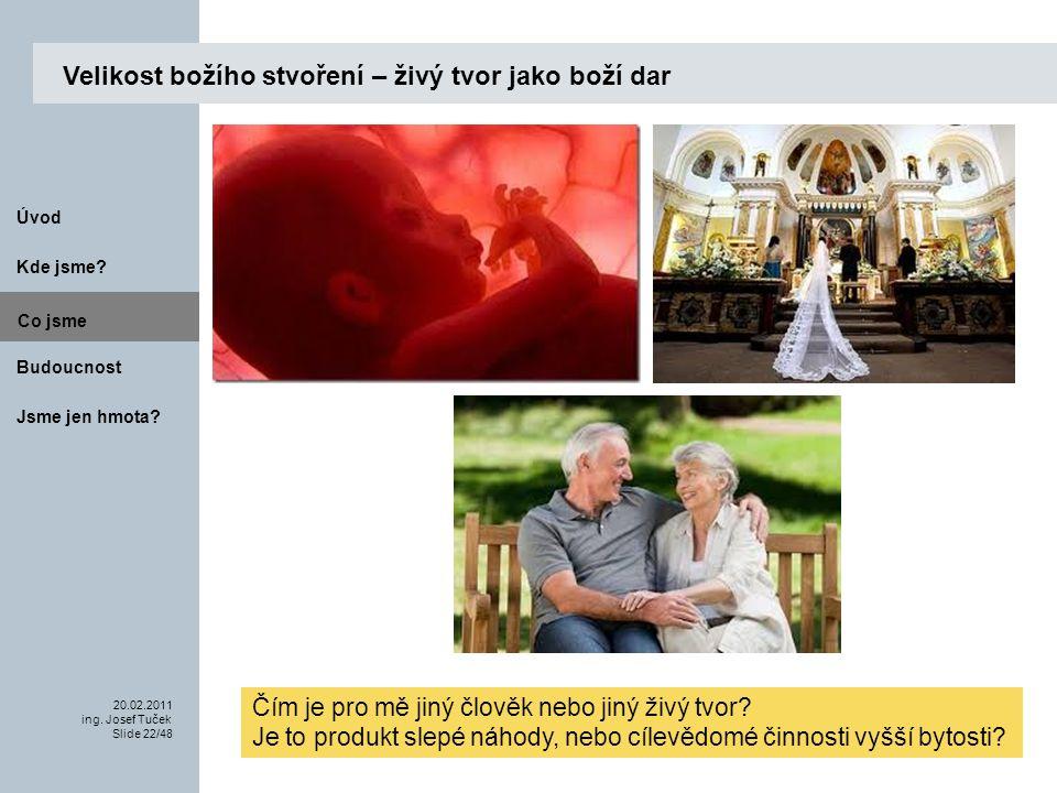 Budoucnost Co jsme. 20.02.2011 ing. Josef Tuček Slide 22/48 Kde jsme.