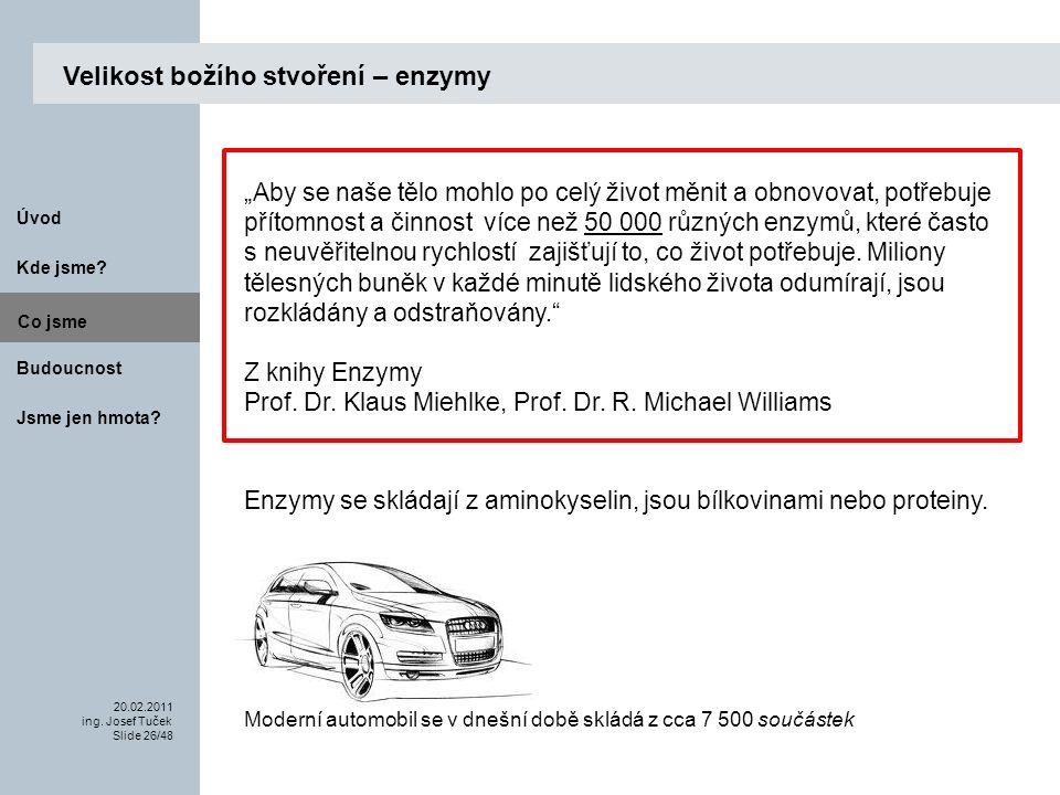 Budoucnost Co jsme. 20.02.2011 ing. Josef Tuček Slide 26/48 Kde jsme.