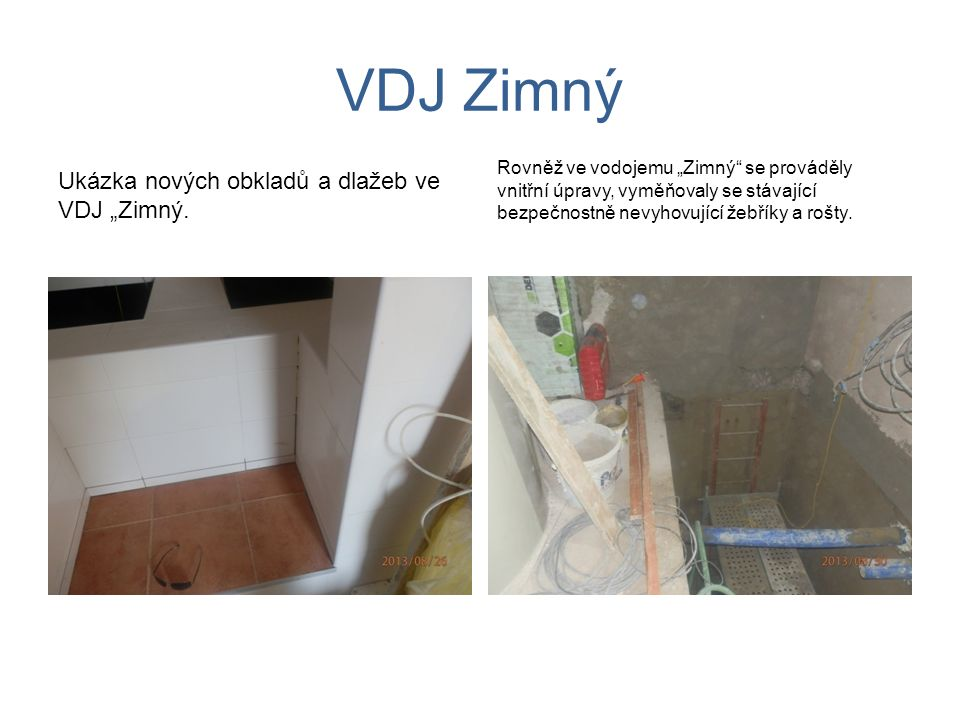 """VDJ Zimný Ukázka nových obkladů a dlažeb ve VDJ """"Zimný."""