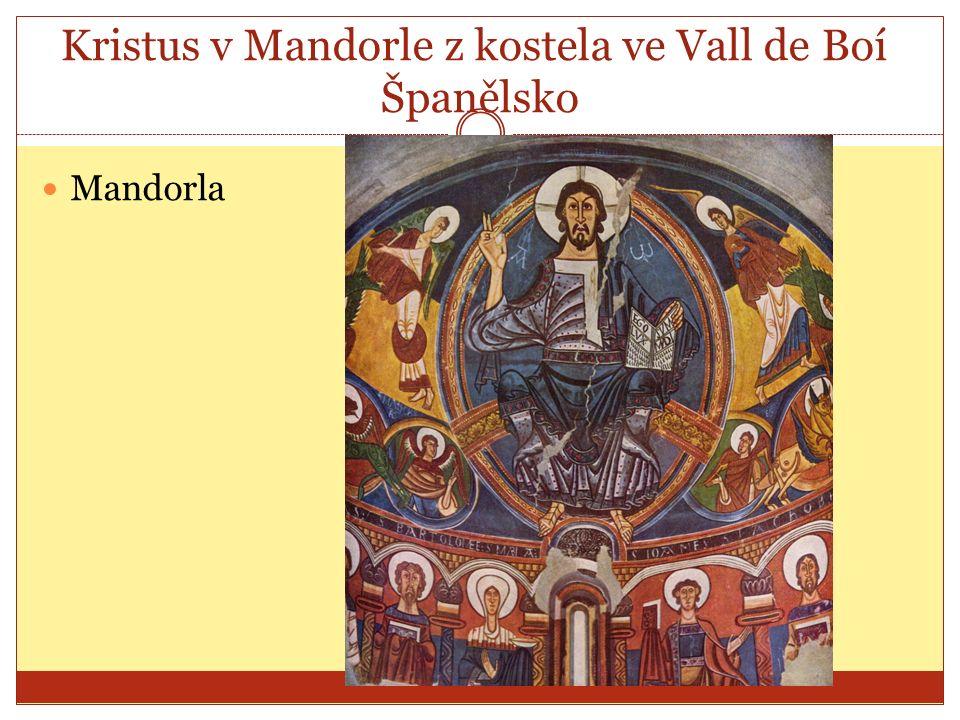 Kristus v Mandorle z kostela ve Vall de Boí, Španělsko Mandorla