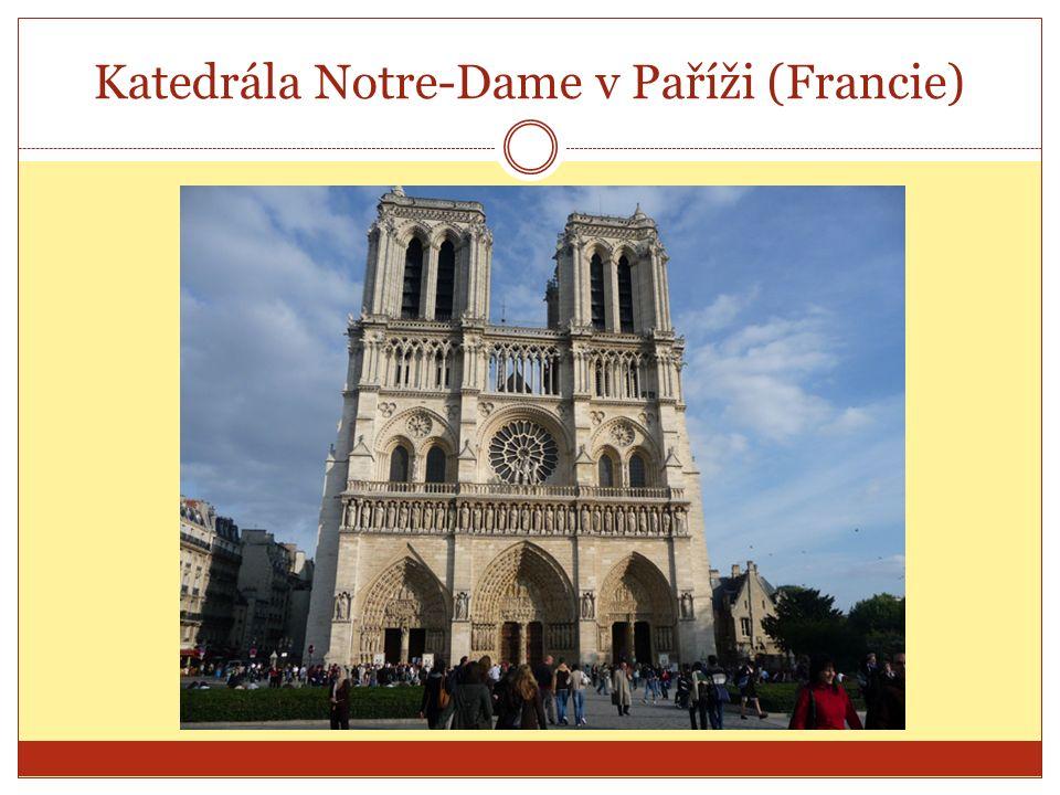 Katedrála Notre-Dame v Paříži (Francie)