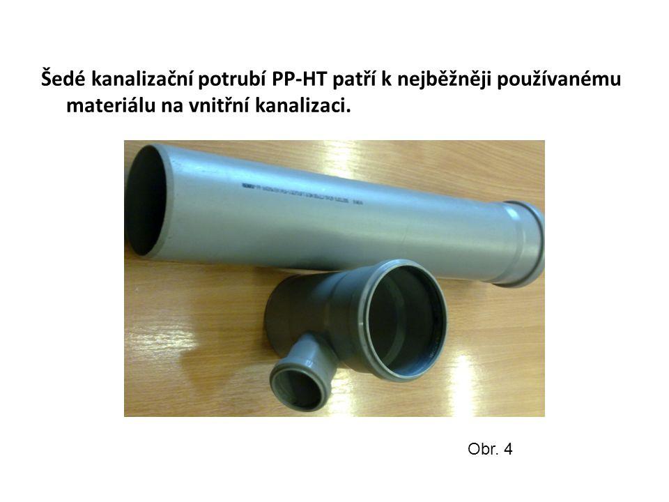 Šedé kanalizační potrubí PP-HT patří k nejběžněji používanému materiálu na vnitřní kanalizaci.