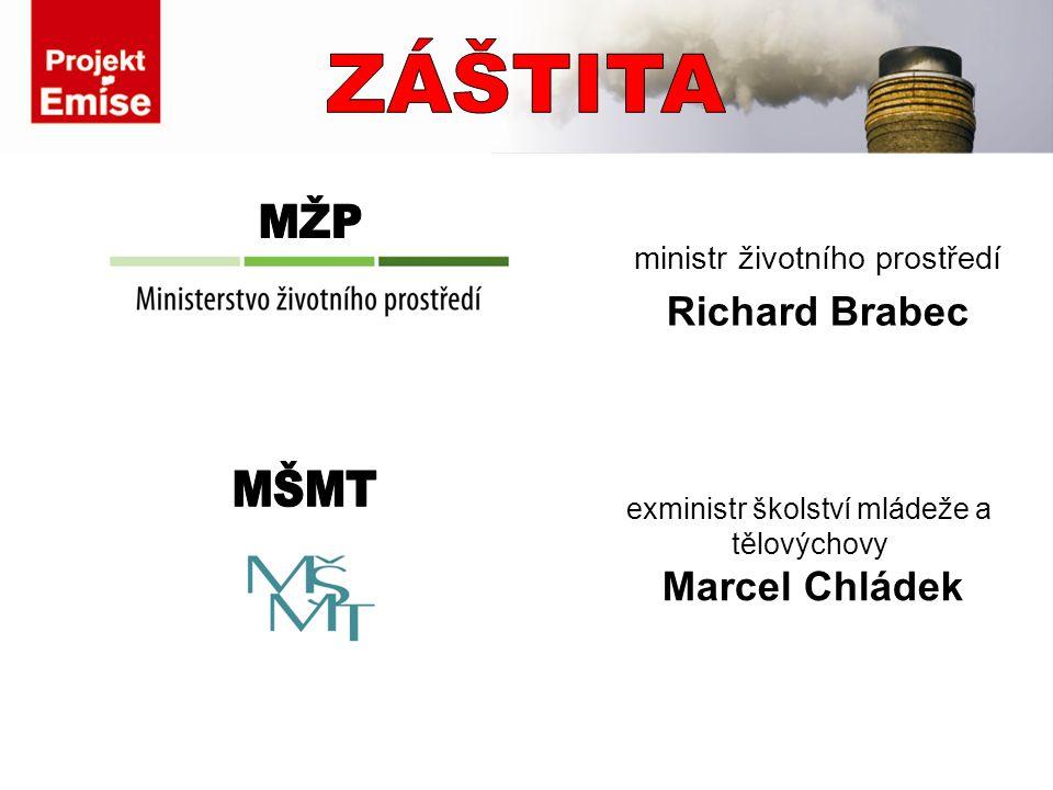 ministr životního prostředí Richard Brabec exministr školství mládeže a tělovýchovy Marcel Chládek